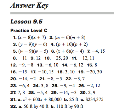 8th grade math worksheets with answer key